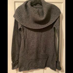 Gap Long Sleeve Gray Cowl Neck Sweater